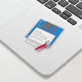 USB, I am Your Father   Retro Floppy Disk Sticker