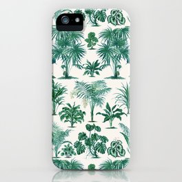 Exotic Tropical Palm Print iPhone Case