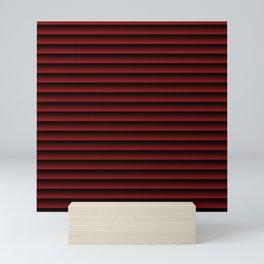 stripes background dark red with black Mini Art Print