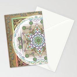 Compassion Mantra Rainbow Mandala Stationery Cards