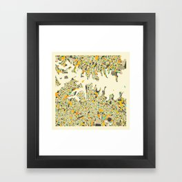SYDNEY Map Framed Art Print