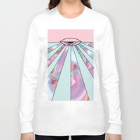 holographic Long Sleeve T-shirts featuring Trans Colour Eye by Belinda O'Connell