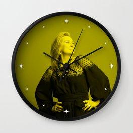 Meryl Streep - Celebrity (Florescent Color Technique) Wall Clock