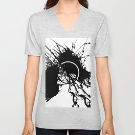 Form Out Of Chaos - Black and white conceptual abstract Unisex V-Neck