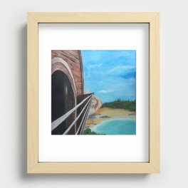 guitar at the beach Recessed Framed Print