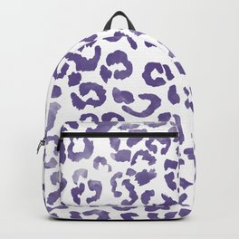 Modern hand painted leopard purple ultra violet watercolor pattern Backpack