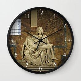 Michelangelo's Pieta in St. Peter's Basilica                                              Wall Clock