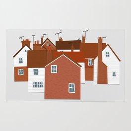 Houses in Kent and Sussex Rug