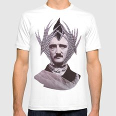EDGAR ALLAN POE MEDIUM White Mens Fitted Tee