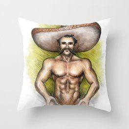 Sexy Mexican Revolutionary Throw Pillow