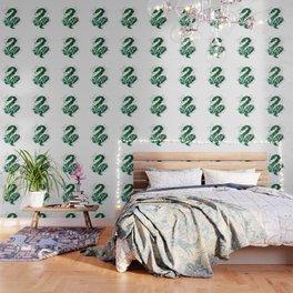 Slytherin Silver Splatter Wallpaper