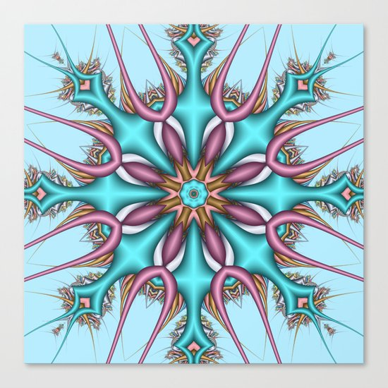 Pastel Pattern Kaleidoscope with optical effects Canvas Print