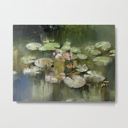 Lotus Pond 1 Metal Print