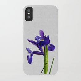 Iris Still Life, Flower Photography iPhone Case