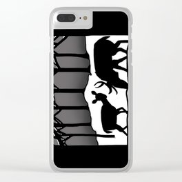 Snow Deer Clear iPhone Case