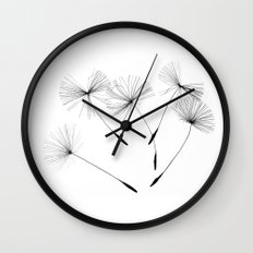 Dandelion seeds, Wall Clock