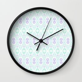 Ikat Java Purple Mini Wall Clock