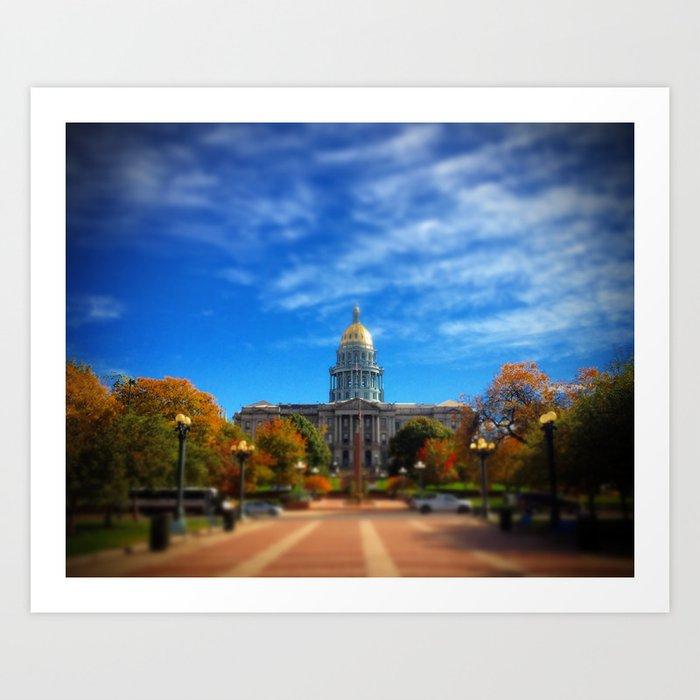 Colorado State Capitol Art Print