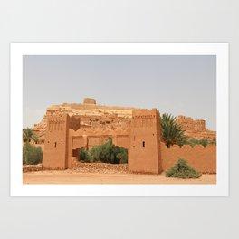 Ait-Ben-Haddou, in Ouarzazate province in Morocco Art Print