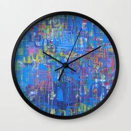 Forward is The Only Direction Wall Clock