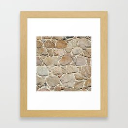old quarry stone wall Framed Art Print