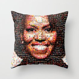 BEHIND THE FACE Michelle Obama | fat women Throw Pillow