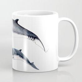 Minke whale with baby whale Coffee Mug