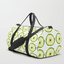 Tree Ring - Chartreuse Duffle Bag