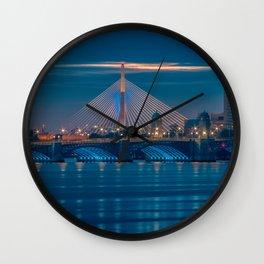 Zakim and Longfellow Bridge Wall Clock