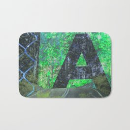 A is for Adventure Bath Mat