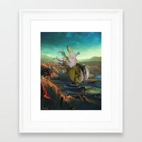 archan nair Framed Art Prints featuring Dua:Talum by Archan Nair