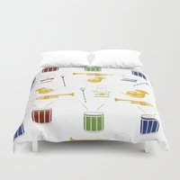 band Duvet Covers featuring Marching Band by S. Vaeth