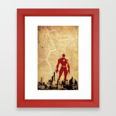 Flash Justice League Framed Art Print