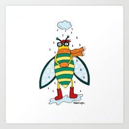 La mosca helada Art Print