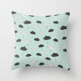 Umbrellas. Throw Pillow