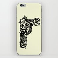 gun iPhone & iPod Skins featuring Gun by Jazz Nash