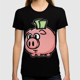 Money Monets Gift Charcoal Taler Dough Penunze T-shirt