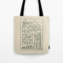 Over The Mountains Tote Bag
