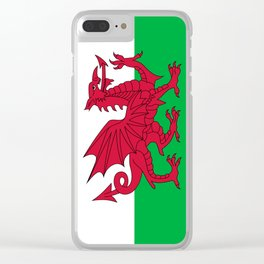 National flag of Wales - Authentic version Clear iPhone Case