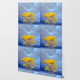 One Yellow Tree Wallpaper