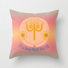 It's a Small World Tower Clock Throw Pillow