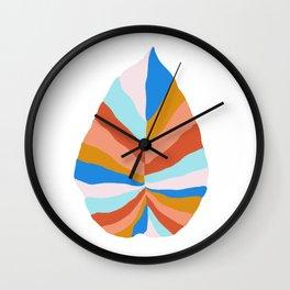 Camryn, rainbow leaf Wall Clock