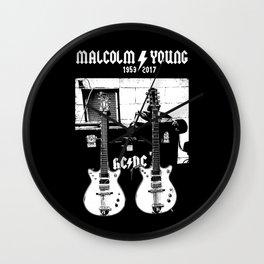 Malcolm Young - AC DC - Guitar - Rock Music - Pop Culture Wall Clock