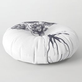 Hand with lotuses Floor Pillow
