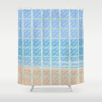 glass Shower Curtains featuring Glass by Ana Guillén Fernández