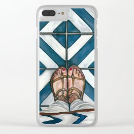 Art Beneath Our Feet - Cabarita Beach, Australia Clear iPhone Case