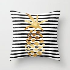 Pineapple & Stripes Throw Pillow