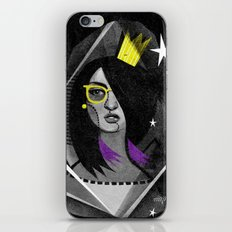 Diamond girl iPhone & iPod Skin