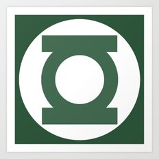 Green Lantern Vector Logo Art Print