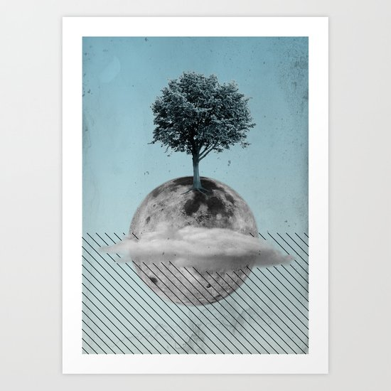 This Is How We Walk On The Moon Art Print